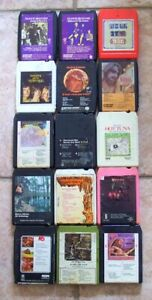 Lot-of-15-1970-039-s-Classic-Rock-Eight-Track-Tape-Cartridges-Untested
