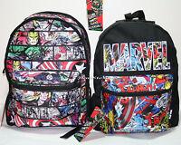 Marvel Avengers Panel Heroes Comic Reversible 2 In 1 Backpack School Book Bag