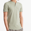 Superdry Heritage Short Sleeve Grandad Henley T-Shirt Oil Green