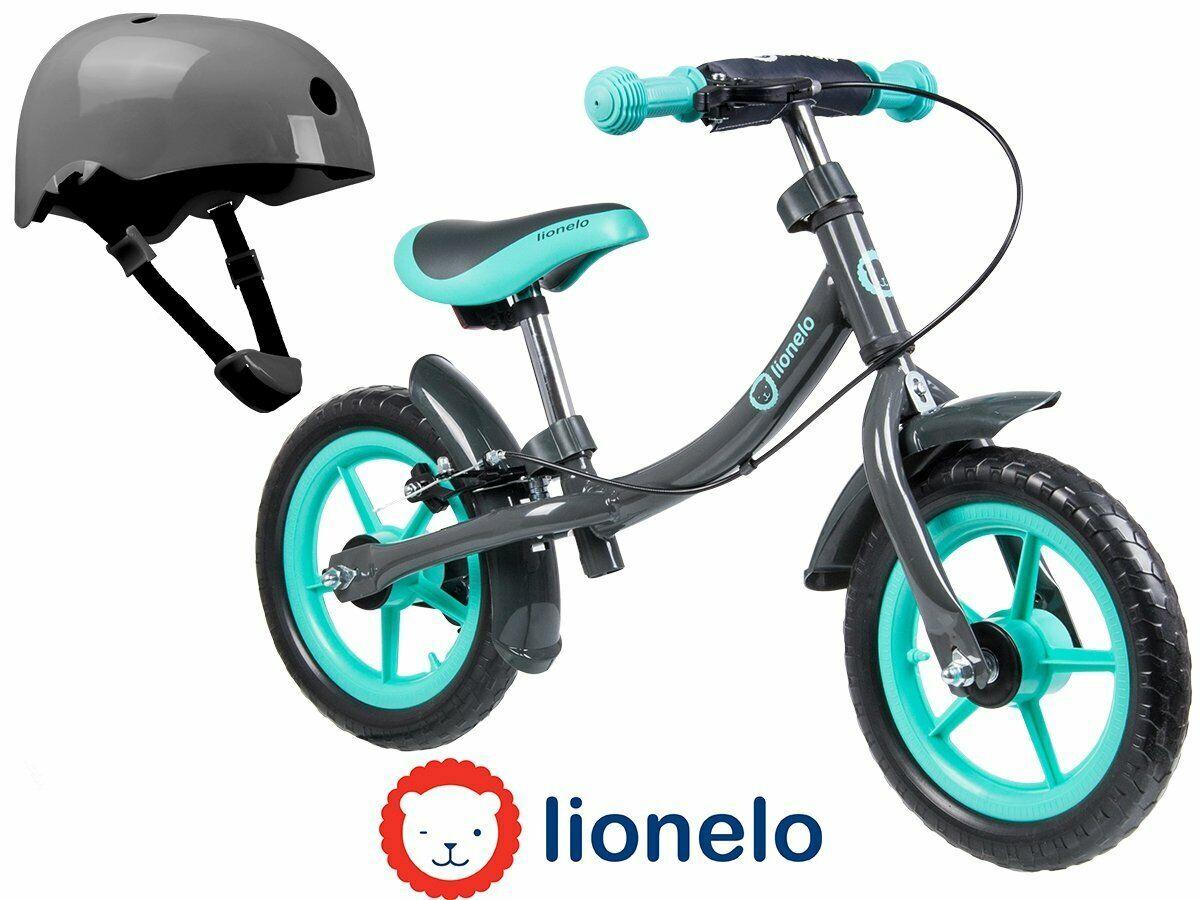 Draisienne enfant 12  Lionelo Dan Plus Turquoise casque gratuit