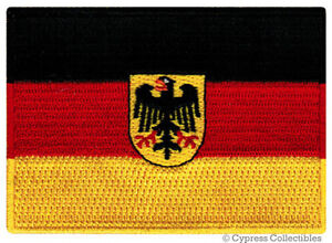 GERMAN-FLAG-iron-on-PATCH-GERMANY-BUNDESDIENSTFLAGGE-embroidered-Deutschland-NEW