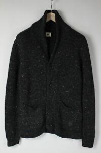 LEE-CU-L685OF-Men-039-s-SMALL-Wool-Blend-Knitted-Shawl-Cardigan-Sweater-29118-JS