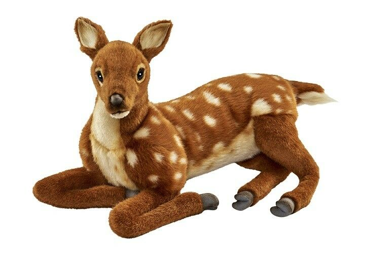 Hansa Toy 5016 Fawn Lying 37 cm Soft Toy Stuffed Animal Toy