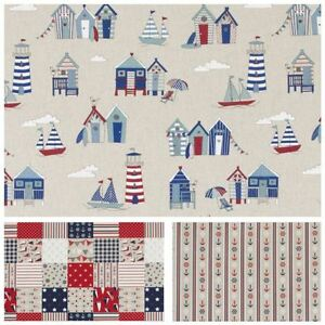 *NEW* Fryett's ANCHOR Nautical Cotton Print Fabric.Upholstery//Curtains//Crafts
