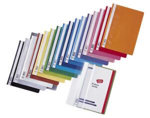 20x Schnellhefter Plastikhefter PP Kunststoff DIN A4, Hefter, Farbe wählbar II