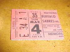 1973 Montreal Canadiens v Buffalo Sabres Hockey Ticket 3/4