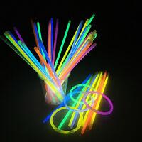Colorful 100pcs Premium 8 Glow Sticks Bracelet Neon Colors Concert Party Favors