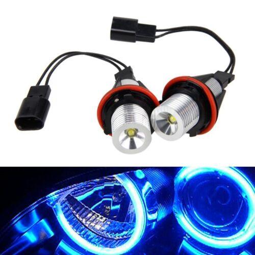 UK Pair 5W Blue LED Angel Eyes Halo Ring Marker Bulbs For BW E39 E53 E60 E61 E87