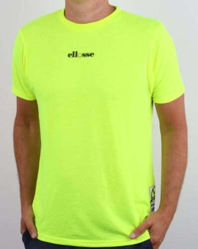 Ellesse Smiley T-Shirt-Jaune Fluo et Noir-Bnwt