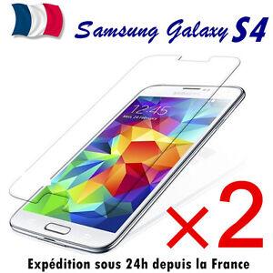 Samsung-Galaxy-S4-lot-2-film-de-protection-vitre-protecteur-d-039-ecran-VERRE-TREMPE
