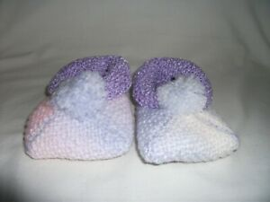 HAND-knittted Bambino BOOTEES-Ref 251