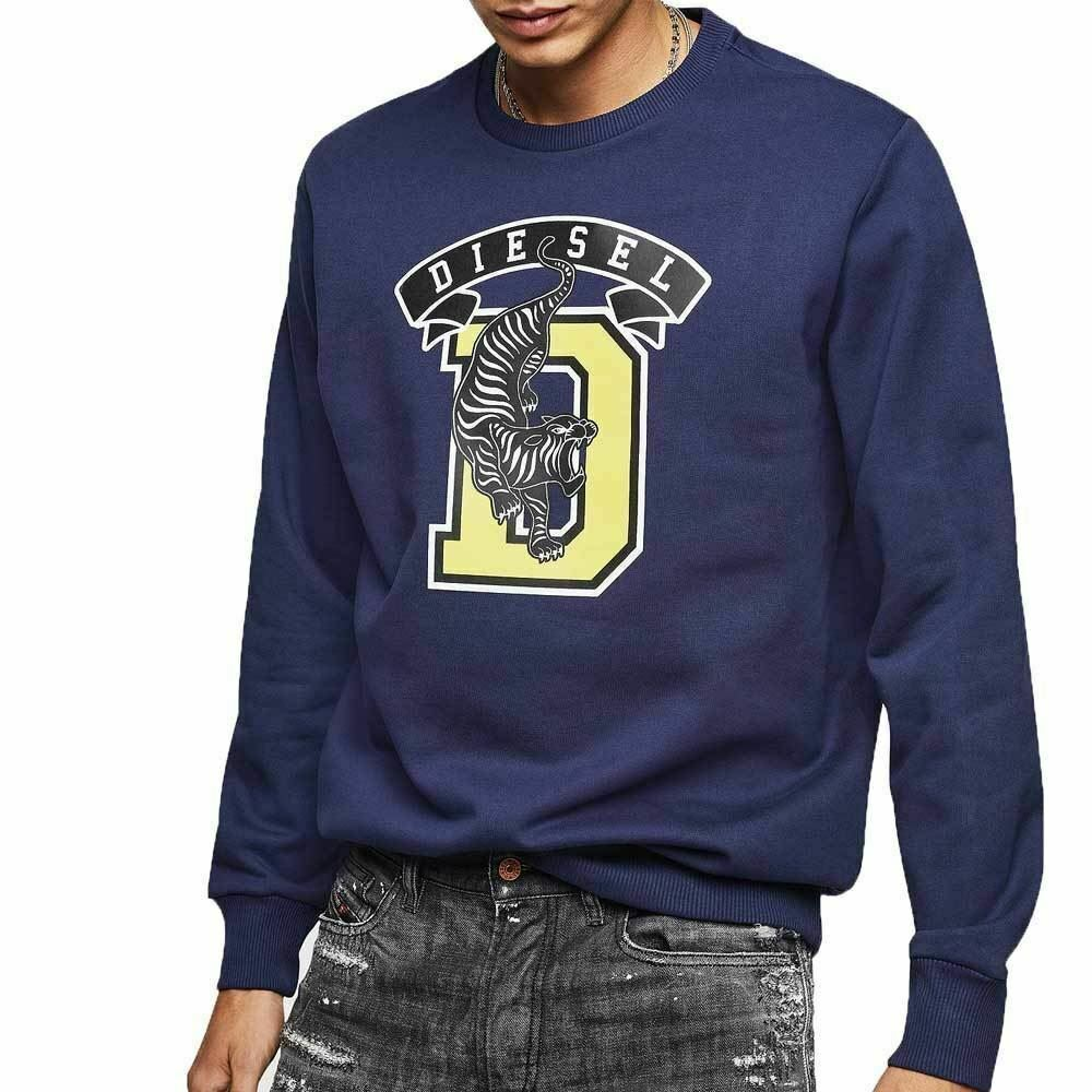 Diesel Jeans S-GIR-B1 Tiger Sweat Shirt - Navy