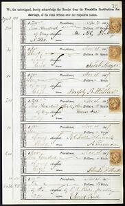 1867-Bank-ledger-page-with-R6c-revenue-stamps-handstamp-cancels-L16