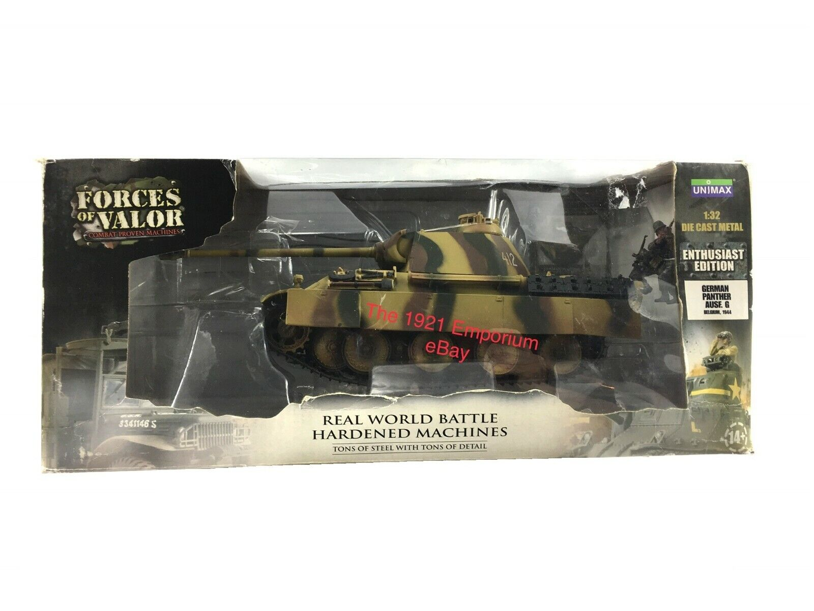 1 32 Scale Diecast Unimax Toys Forces of Valor WWII German Army Panther Tank