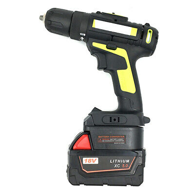 for Milwaukee M18 18V li-ion battery to 20v WORX 4PIN TOOL USE ADAPTER