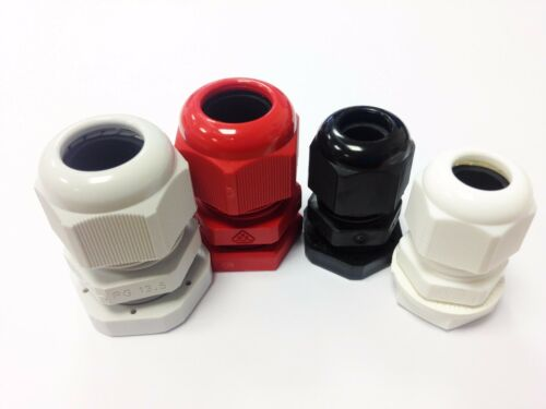 Cable Glands /& Locking Nut M20 20mm In Red IP68 Waterproof rated