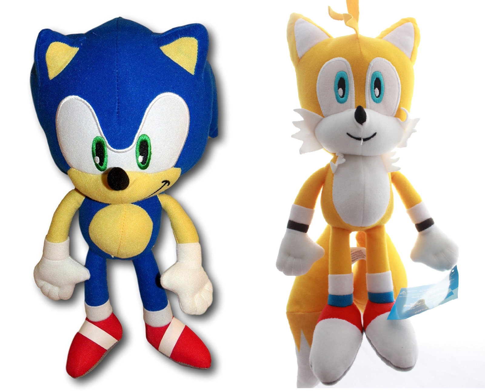 Sonic the Hedgehog Tails 12  Plush Set Stuffed Collection Toy Authentic Boy Girl