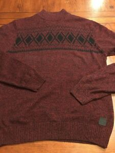 outlet store best authentic new specials Details about GUESS Red & Blue Knit Mock Turtleneck Sweater Sz XL (M2)