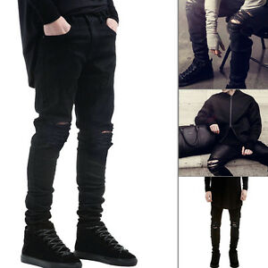 Brand-New-Men-Fashion-Straight-Biker-Jeans-Pants-Skinny-Denim-Ripped-Trousers