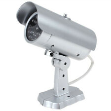 Battery Power Fake Dummy CCTV Outdoor Security Camera w/ Flashing Red LED Light
