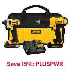 DeWALT DCK240C2 20-Volt Drill Driver/Impact Driver Combo Kit, 15% Off: PLUSPWR