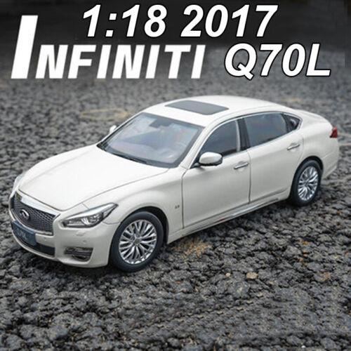 ORIGINAL 1:18 INFINITI Q70L Q70 2017 White Diecast Model Car Toys For Boys/&Girls