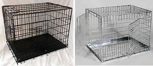 Dog-Crates-Cages-Travel-Camping-Puppy-Car-Pets-24-034-30-034-36-034-42-034-Value