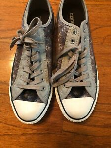 Cadera Vientre taiko Aja  Converse Chuck Taylor Low Top Blue Acid Wash Grey Leather Trim Men 9 Women  11 | eBay