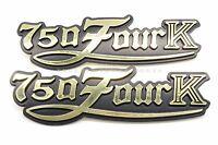 Side Cover Emblem Set Reproduction 77-78 Honda Cb750 K Four Black Gold Z83