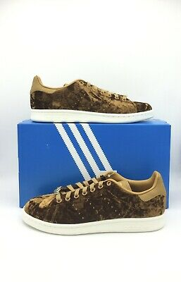 NIB Adidas Stan Smith Size 8 Brown Velvet Limited Edition Sneakers EH0175   eBay