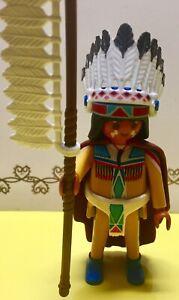 Playmobil Series 4 Indian Chief 5284 Loose