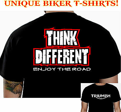 THINK TRIUMPH BIKER T-SHIRT CUSTOM MOTORCYCLE CLOTHING COOL FUNNY GIFT TEE 101