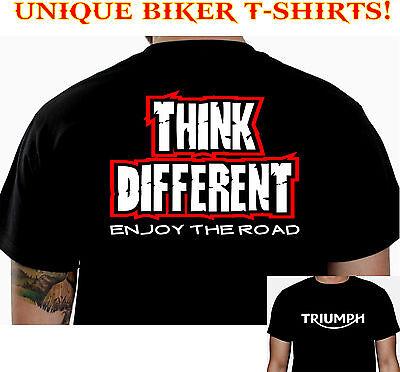 THINK TRIUMPH BIKER T-SHIRT CUSTOM MOTORCYCLE CLOTHING COOL FUNNY GIFT TEE 101