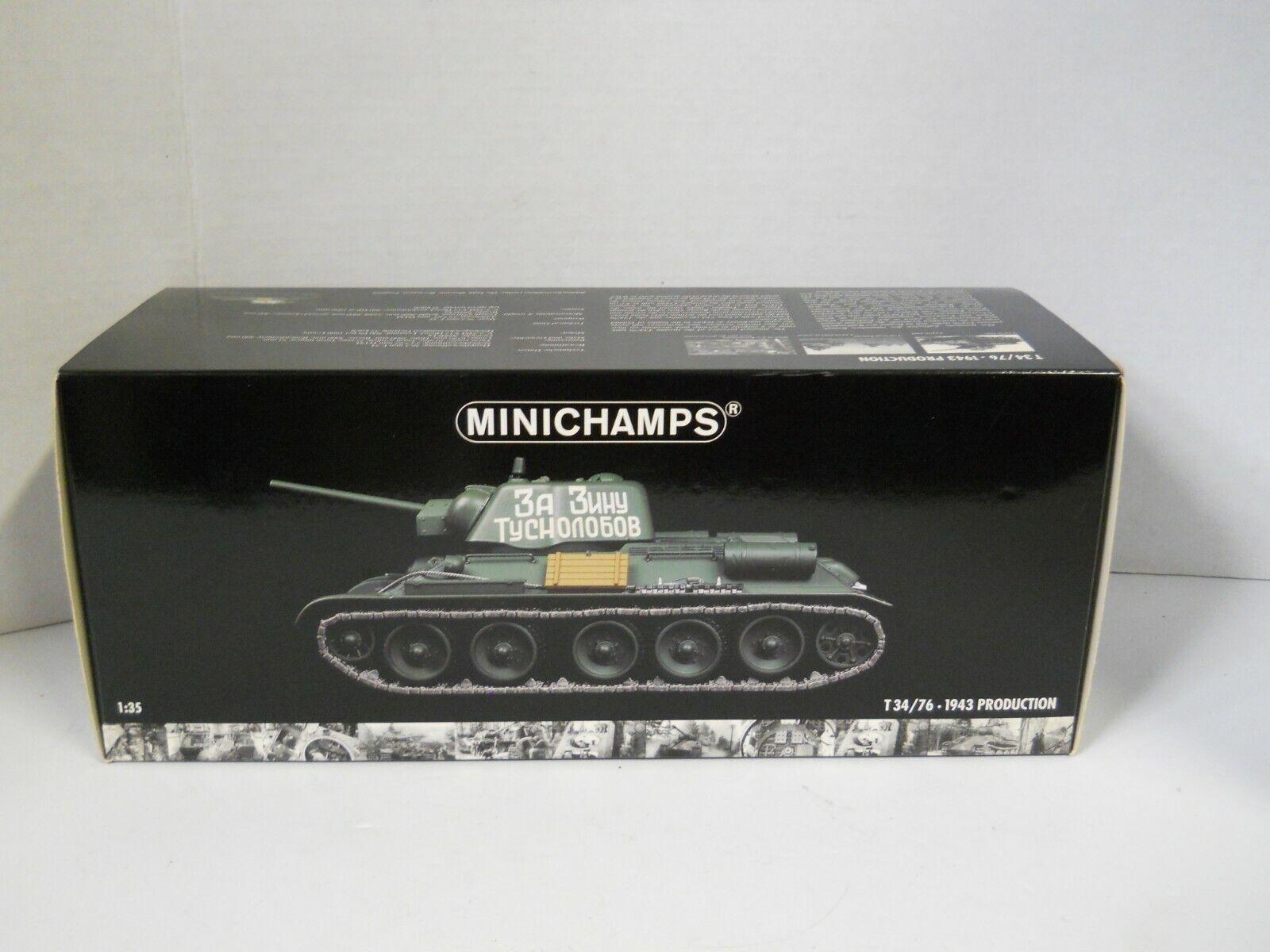 MINICHAMPS T34 76-1943 Production 1 35 Scale Die-Cast Medium Tank  réplique avec boite  la meilleure sélection de