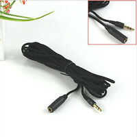5m LONG 3.5mm Jack Plug to Socket AUX Headphone Extension Cable Lead GOLD Sale