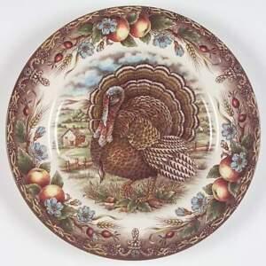 Royal-Stafford-TURKEY-BROWN-Dinner-Plate-6512404