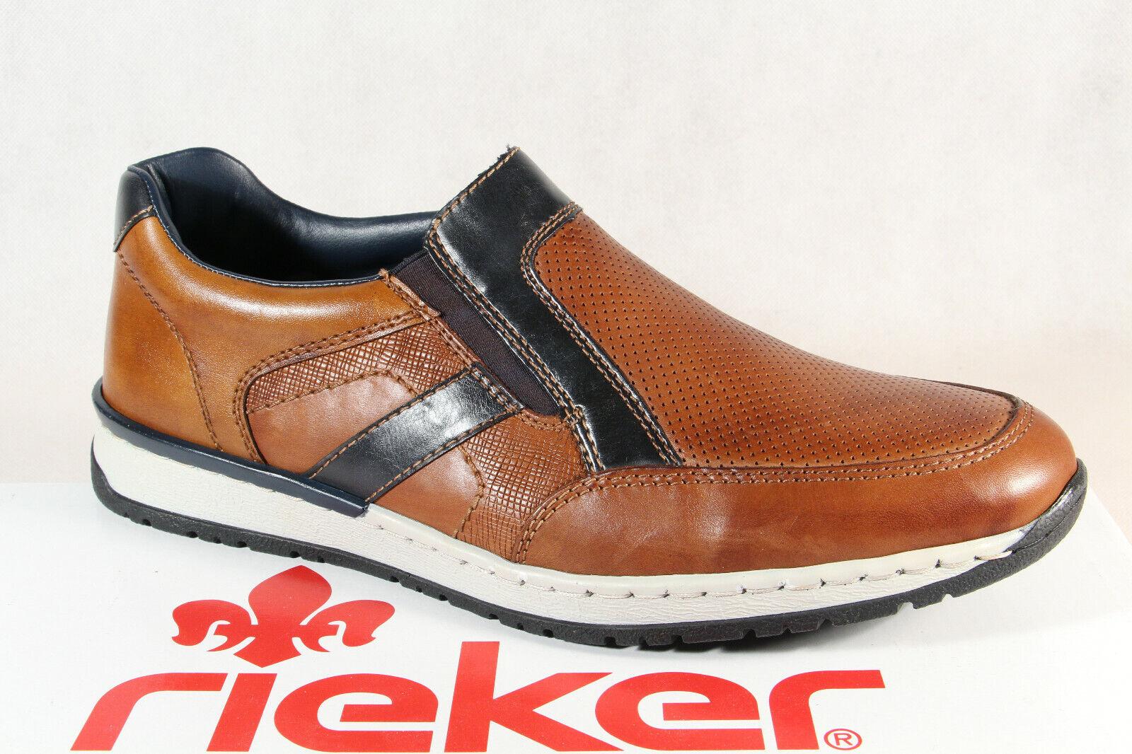Rieker Scarpe Basse Morbide scarpe da ginnastica Marroneei B5160 Nuovo
