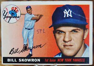 1955-Topps-Baseball-Card-22-Bill-Skowron-New-York-Yankees-VG-EX