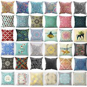 Latest Throw Pillow Designs : New Bohemian Pattern Throw Pillow Cover Car Cushion Cover Pillowcase Home Decor eBay