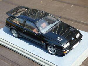 1-18-Autoart-Ford-Sierra-RS500-Cosworth-Negro-Coche-039-88-Coleccionable-Rara-Modelo-de-juguete