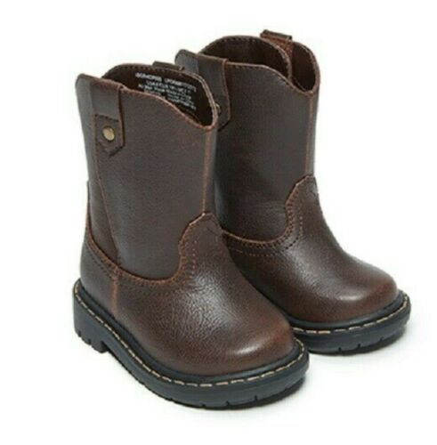 2-6 Garanimals Infant//Toddler Boys/' Brown Slip-on// Pull-on Boots Shoes
