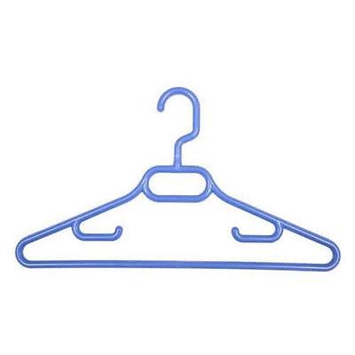 Pack of 3 CHILDRENS BLUE COAT HANGERS Tie & Belt Bar + SWIVEL HOOK 36cm 1389-1