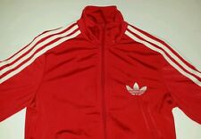 Adidas Red White Track Jacket Small Trefoil bboy bgirl Hip Hop Break Dance