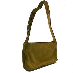 e402ad089c Image is loading RALPH-LAUREN-Polo-Baguette-Handbag-Tan-Suede-Vintage-