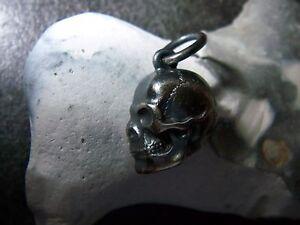 Anhänger Uhren & Schmuck Modestil Schädel-totenkopf punziert 935er-silber-wmm-kleeblatt-wolfsangel-signiert Neu