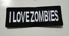 P3 I Love Zombies Funny Humour Iron Patch Laugh Joke Zombie Walking Dead Ghoul