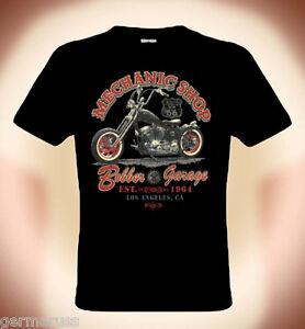 biker t shirt mechanic shop route 66 bis gr e 5xl. Black Bedroom Furniture Sets. Home Design Ideas