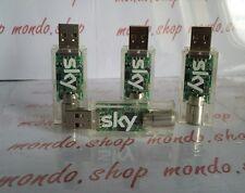 sky digital key dvb-t chiavetta digitale terrestre led blu