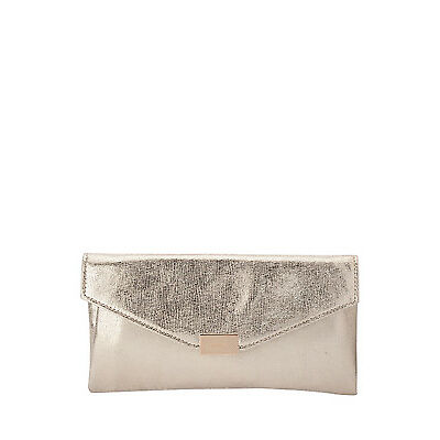 NEW Olga Berg OB4515 Colby Metallic Soft Clutch Gold