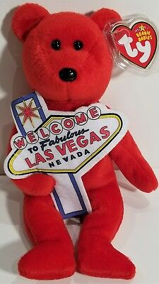 """TY Beanie Babies /""""AUGUST/"""" the HAPPY BIRTHDAY Teddy Bear MWMTs PERFECT GIFT!"""